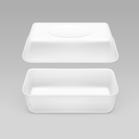 chinese food container: White Fast Food Box Container Packaging Package Packing Pack Isolated on Background
