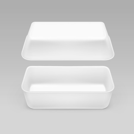 White Fast Food Box Container Packaging Package Packing Pack Isolated on Background