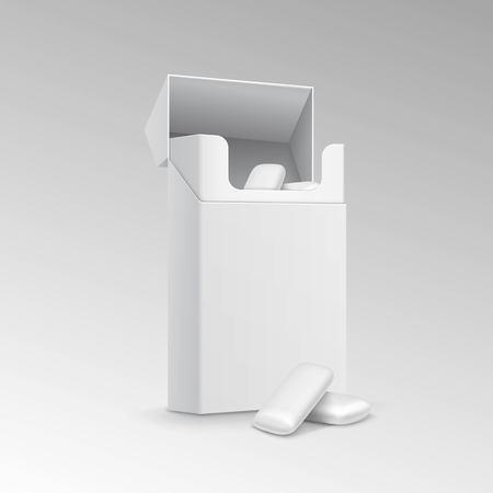 goma de mascar: Paquete de goma de mascar aisladas sobre fondo blanco Vectores