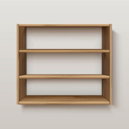 interior shelving: Empty Wooden Wood Shelf Shelves Isolated on Wall Background
