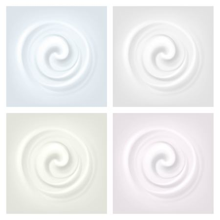 backgrounds texture: Set of Multicolored Swirl Cream Texture Backgrounds