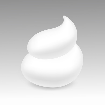 White Foam Cream Mousse Soap Lotion Isolated on Background