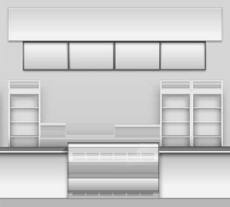 liquors: Grocery Store Bar Cafe Beer Cafeteria Fast Food Counter Desk Interior Exterior Showcase Illustration