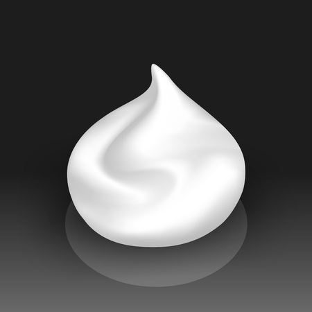 spot clean: Vector White Foam Cream Mousse Soap Lotion Isolated on Background