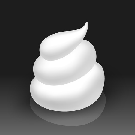 soap suds: Vector White Foam Cream Mousse Soap Lotion Isolated on Background