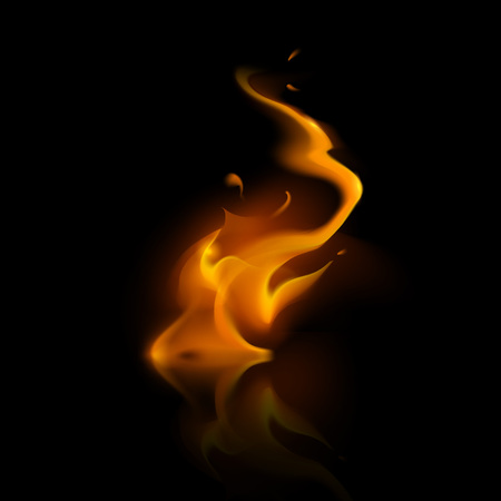 embers: Vector Yellow Orange Fire Flame Bonfire  Isolated on Background Illustration