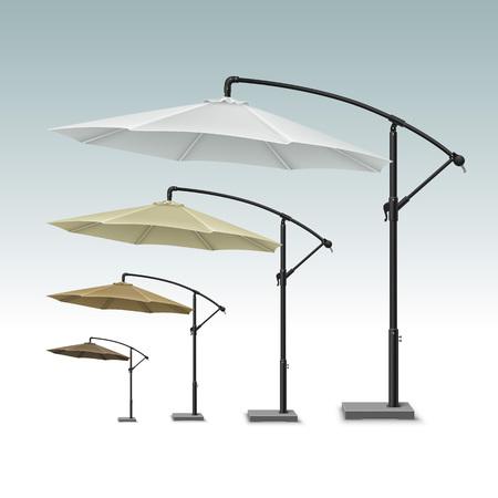 patio: Blank Patio Outdoor Beach Cafe Lounge Restaurant Round Umbrella Parasol