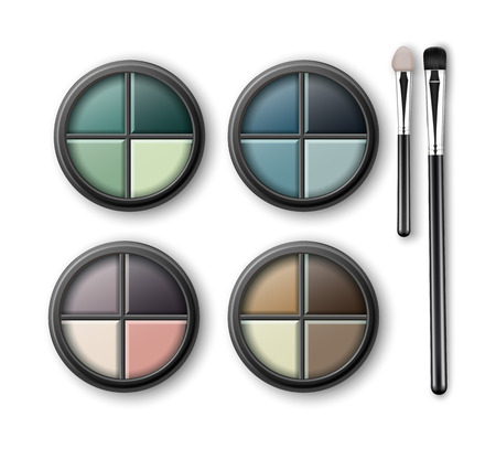eyelids: MultiColored Eye Shadows with Makeup Applicators