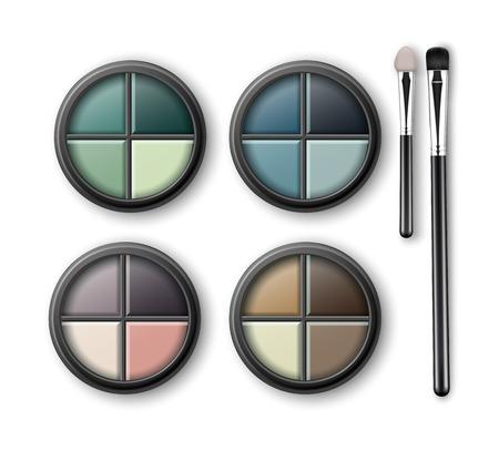 eye shadows: MultiColored Eye Shadows with Makeup Applicators