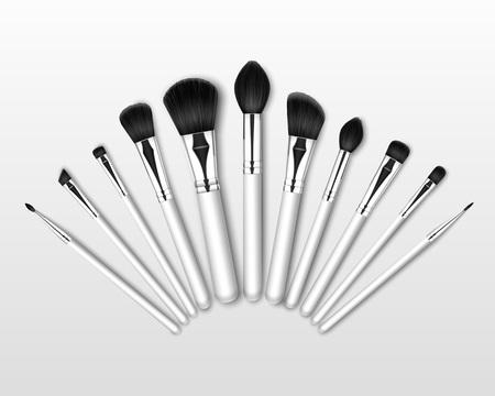 Professional Makeup Powder Blush Brow Brushes