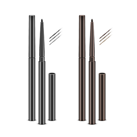 Set of Cosmetic Makeup Eyeliner Pencils