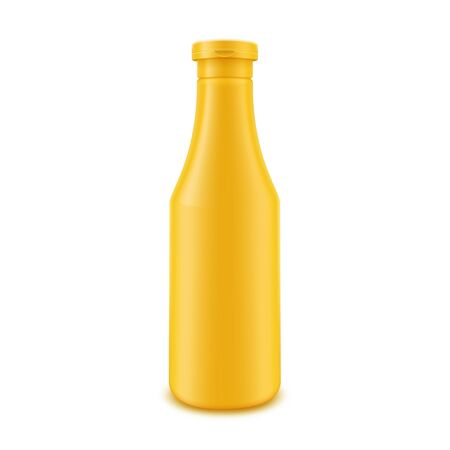 nutritive: Yellow Bottle for Branding without label Isolated on White Background