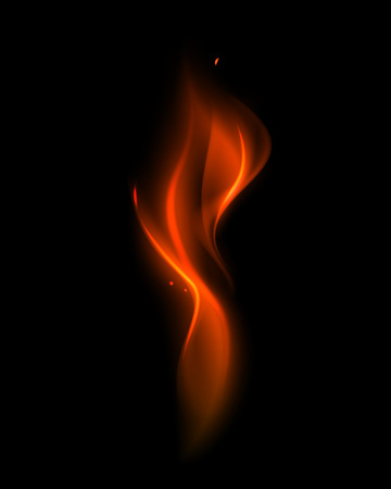 Vector Abstract Red Fire Flame