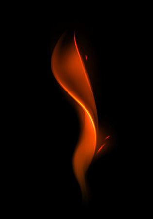 Vector Abstract Red Flame on Background Illustration