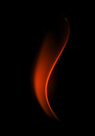 Vector Red Fire Flame on Background