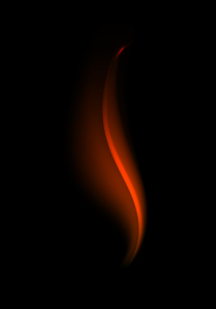 Abstract Red Fire Flame on Background