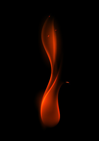 Vector Abstract Red Fire Flame on Background Illustration