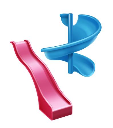 Scivoli di plastica colorati