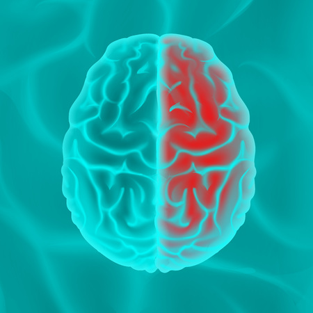 Glowing human brain Stock Vector - 98585899