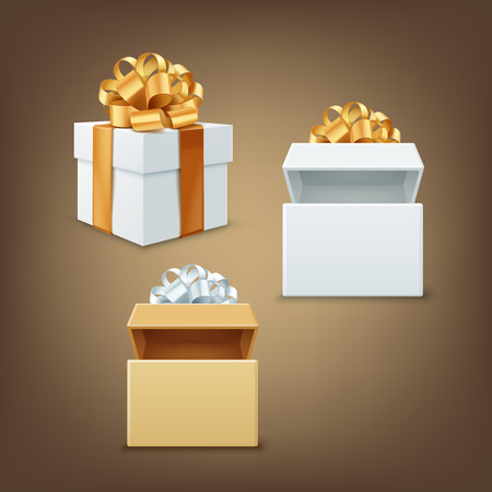 Vector gift boxes Illustration