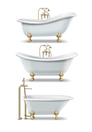 White vintage bathtubs