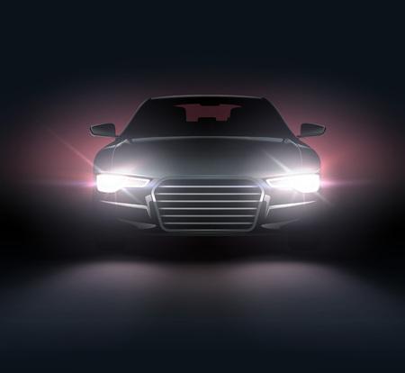 Automobile with headlights 免版税图像 - 100504675