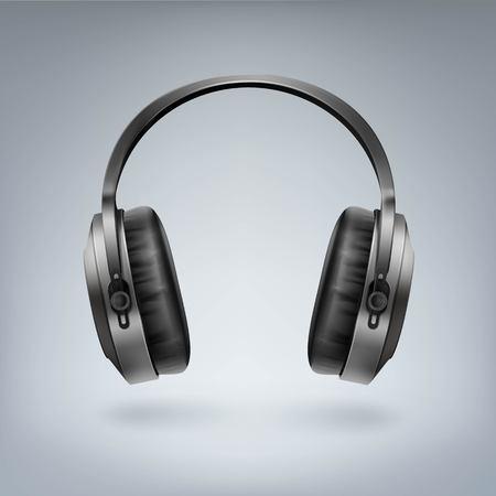 Realistic wireless headphones Illustration.