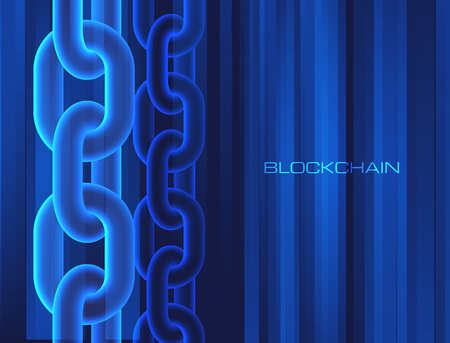 Blockchain technology concept block chain database data cryptocurrency business digital finance mining background
