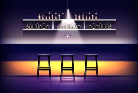 Interior of pub, bar or cafe