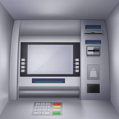 Illustration of a ATM Machine Vettoriali
