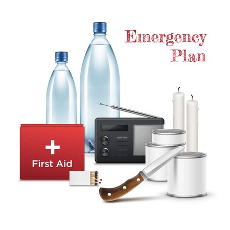 Emergency first aid big set vector realistic