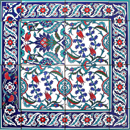 disordered: Oriental Disordered Tile Floral Style
