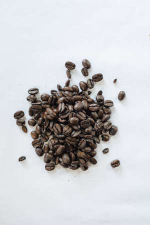 Coffee Beans with White Background Stok Fotoğraf