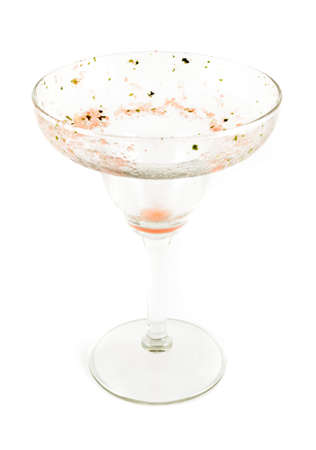 margarita glass: A dirty margarita glass.