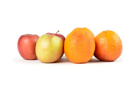 comparing: An example of comparing apples to oranges.