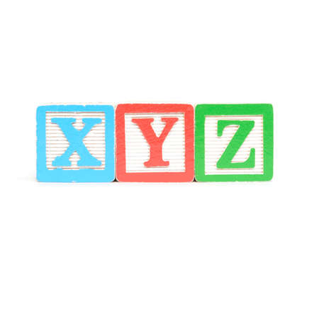 xyz: Block letter on a white background isolated