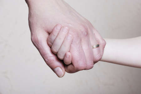 Hand together love family sign photo