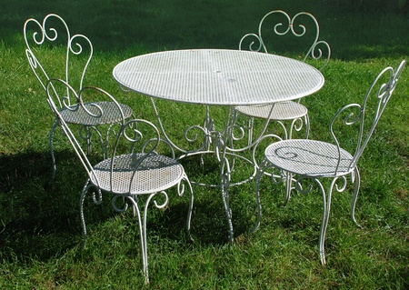 garden table and chairs in summer Stock Photo - 13285118