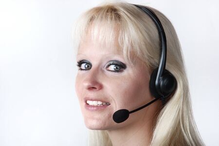 Portrait of young woman with headset Stock Photo - 14016693