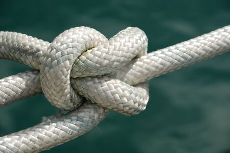 hitched: Knot in rope