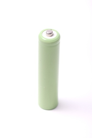 nimh: Rechargeable AA battery isolated on white background