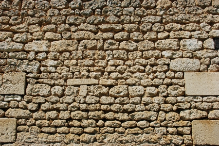 Solid wall made of stone  Stock Photo - 21432879