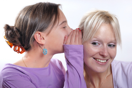 complicity: Complicity between mother and daughter Stock Photo