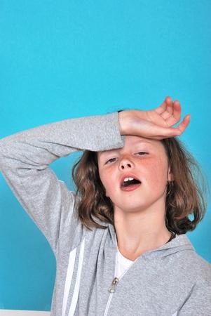 ennui: Teen girl looking discouraged Stock Photo