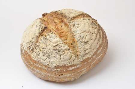 wholegrain: Organic wholegrain bread Stock Photo