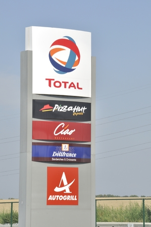 Total gas station with restaurant Pizza Hut, Ciao, Delifrance and Autogrill