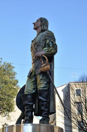 musketeer: France, Aquitaine, dordogne (24), Bergerac, Cyrano de Bergerac statue Editorial