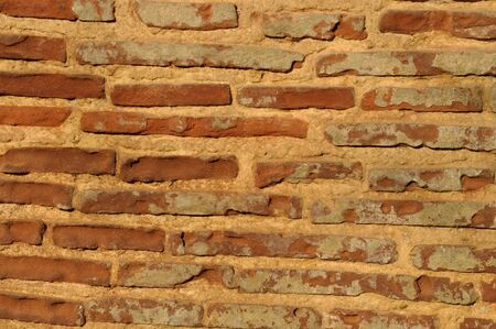 solid: Solid wall made of brick