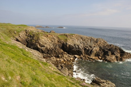 brittany: The Brittany coast to Plougonvelin Stock Photo