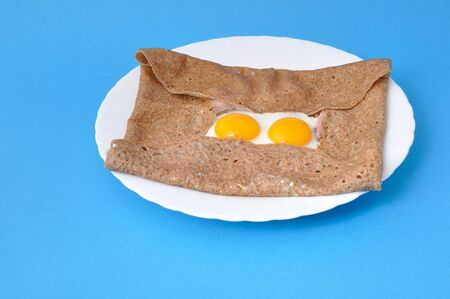 basic food: Galette with egg